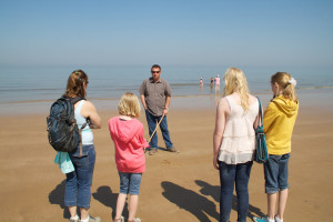 Visiting a very peaceful Omaha Beach in the Spring of 2011
