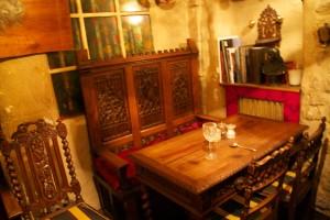 old old building, cool restaurant. Au Vieux Paris restaurant