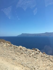 The road's edge looming over the Mediterranean Sea